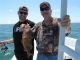 Justin and Shep having a great day deep sea fishing, Florida 2011